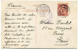 CRETE CARTE POSTALE DEPART LA CANEE 17 JUIN 11 GRECE POUR LA FRANCE - Kreta