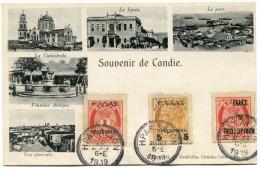 CRETE CARTE POSTALE DEPART HPAKAEION ?-?-1909 POUR LA FRANCE - Kreta