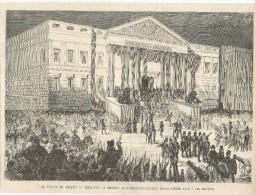 Madrid, Golpe 3 Gennaio 1874, I Deputati Cacciati Dalle Cortes, Litografia Cm. 25,5 X 19. - Documentos Históricos