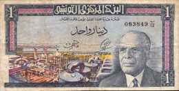TUNISIE 1 Dinar   Du  1/6/1965  -  Pick 63 A - A VOIR - Tunisia