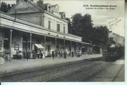 FONTAINEBLEAU Intérieur De La Gare Les Quais - Fontainebleau