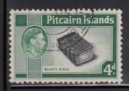 Pitcairn Islands Used Scott #5A 4p Bounty Bible - Pitcairn