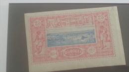 LOT 250612 TIMBRE DE COLONIE COTE DE SOMALIS NEUF* N�12 VALEUR 37 EUROS