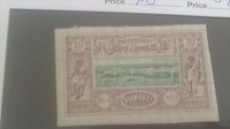 LOT 250614 TIMBRE DE COLONIE COTE DE SOMALIS NEUF* N�10 VALEUR 25 EUROS