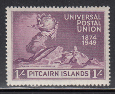 Pitcairn Islands MH Scott #16 1sh 75th Anniversary UPU - Timbres