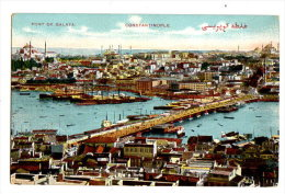 TURQUIE - CONSTANTINOPLE - LE PONT DE GALATA 2 - Turquie
