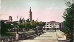 VENETO-TREVISO-ODERZO VEDUTA DA VIA CESARE BATTISTI ANNI 50 PARTICOLARE - Altre Città