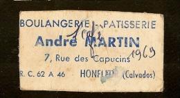3 BON POUR 1 CAFÉ 1969 , Boulangerie Pâtisserie ANDRÉ MARTIN à HONFLEUR 7 Rue Des Capucins - Monétaires / De Nécessité