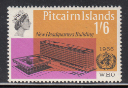 Pitcairn Islands MNH Scott #63 1sh6p WHO Headquarters - Timbres