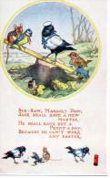 MOLLY BRETT- Corbeau Faisant De La Balançoire Avec Une Mésange, Souris, Grenouille - Illustratori & Fotografie
