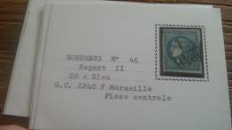 LOT 250699 TIMBRE DE FRANCE OBLITERE N�46B VALEUR 25 EUROS