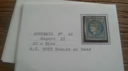 LOT 250700 TIMBRE DE FRANCE OBLITERE N�46B VALEUR 25 EUROS CACHET 5073 TENIET EL HAAD