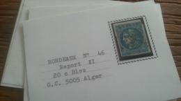 LOT 250701 TIMBRE DE FRANCE OBLITERE N�46B VALEUR 25 EUROS CACHET 5005 ALGER