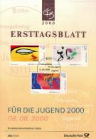 ALLEMAGNE  Carte Notice 1er Jour  2000  Exposition Universelle A Hanovre Oeil - 2000 – Hanover (Germany)