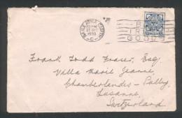Enveloppe  Baile Atha Cliath Pour La Suisse 27 Décembre 1930 - 1922-37 Stato Libero D'Irlanda
