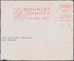 France 1962 EMA Sécap Paris. Bourlet Dandre, Tissage - Textile
