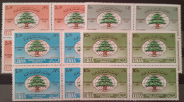 11- Lebanon 1968 SG 1027-1030 Third World Lebanese Union Congress - Complete Set MNH - Blks/4 - Lebanon