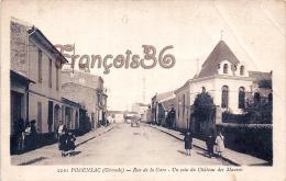 (33) Podensac - Rue De La Gare - Un Coin Du Château Des Mauves - 2 SCANS - France