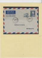 O) 1948 CZECH REPUBLIC, TCHECK REPUBLIC FIRST FLIGHT COVER PRAHA BEIRUTH LEBANON XF - Czech Republic