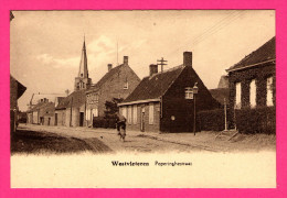 Westvleteren - Poperinghestraat - Animée - Cycliste - A. DOISE - A. ALLEWEIRELDT - Vleteren