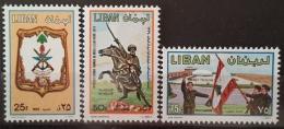 R2 - Lebanon 1981 Mi. 1293-1295 MNH - Army Day - Flag - Liban