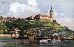 MELNIK Böhmen, Künstlerkarte 1910? - Böhmen Und Mähren