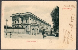 1901 PIACENZA RIONE GIORDANI FP V SEE 2 SCANS ANIMATA QUARTIERE POSTALE 167 ROMA TIMBRO TONDO RIQUADRATO PIACENZA