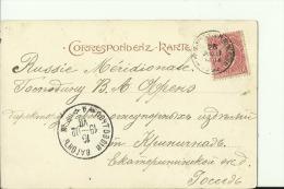 SALZ34   --   SALZBURG   --   STEMPEL :  RUSSIA MERIDIONALE,  POCTOVNI VAGON Nr.  16  --   1902  ---   CYRYLLISCH ALPHAB - Salzburg Stadt
