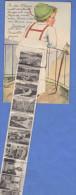 Laporello INNSBRUCK Bub Mit Lederhose Gefüllt Mit 10 Kleinen Ansichten Aus Innsbruck, 1930, 24 Gro Frankierung - Gruss Aus.../ Grüsse Aus...