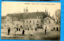 FR277, Mamers, Hôtel De Ville , Entrée Du Palais De Justice, Animée, Circulée 1909 - Mamers