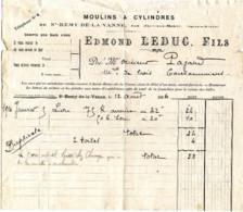 Facture 1916 Moulins à Cylindres LEDUC, SAINT-REMY-DE-LA-VANNE Par JOUY-SUR-MORIN - France