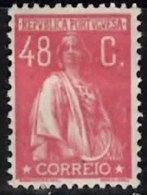 PORTUGAL 1920 Ceres (unsurfaced Paper) (Perf 12 X 11.5) 48c Mint - 1910-... Republic