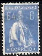 PORTUGAL 1920 Ceres (unsurfaced Paper) (Perf 12 X 11.5) 64c Mint - 1910-... Republic