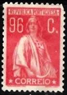 PORTUGAL 1920 Ceres (unsurfaced Paper) (Perf 12 X 11.5) 96c Mint - 1910-... Republic