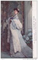 Cpa La Dame En Bleu - D. Etcheverry - Coll. Art Décoratif - Salon De La Société Nationale Des Beaux Arts 1905 - Pintura & Cuadros