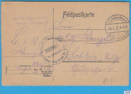 FELDPOST WW1; Feldpostkarte; Briefstempel 24.1.1917 - Guerre Mondiale (Première)