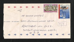 Qatar Air Mail Postal Used Cover Qatar To U S A OPEC 30th Anniversary  AS PER SCAN - Qatar