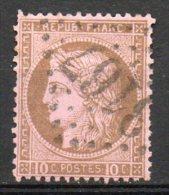FRANCE - 1871-75 - Cérès - IIIème République - N° 54 - 10 C. Brun S. Rose - (Losange Gros Chiffres) - 1871-1875 Cérès