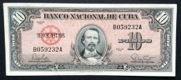 CUBA. 10 pesos 1960. Pick 79b.