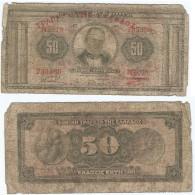 Grecia - Greece  50 Dracmas 13-5-1927 Resello 1928 Pick-97-a Ref 132 - Grecia