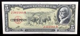 CUBA. 5 pesos 1960. Sign. CHE. RADAR serial N*.