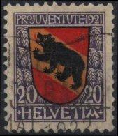 SUISSE SCHWEIZ SWITZERLAND Poste 186 (o) Armoirie Wappen Blason Berne Bern - Svizzera