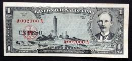 CUBA. 1 peso 1956. Pick 87a. Low nice serial N*.