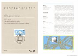 Germany 1995 Mi. 1783 ETB, Technical University Carolo-Wilhelmina, TU Braunschweig - [7] República Federal