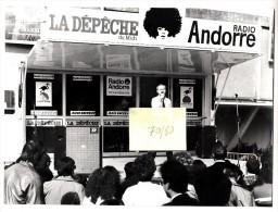 Photo Originale - William Sheller, émission De Radio Andorre à Toulouse - Format 24 X 17.8 Cm - Beroemde Personen