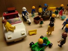LOTE DE AUTENTICOS PLAYMOBIL (GEOBRA Año 1974) VER COMENTARIO - PLAYMOBIL LOT - PERSONNAGES ANCIENS - 1974 - Playmobil