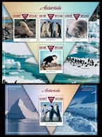gb15303ab Guinea Bissau 2015 Antarctica Penguin 2 s/s