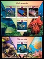 gb15308ab Guinea Bissau 2015 Marine life Fish 2 s/s