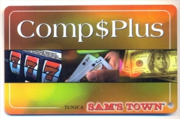 Sam�s Town Casino, Tunica, MS, U.S.A.,  older used slot or players card, sams-8a