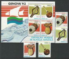 Mozambique 1992 SC 1181-1184a MNH Music Genova 92